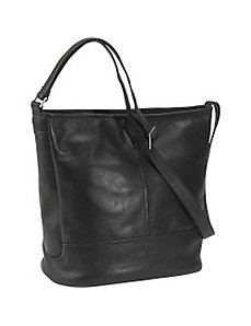 North South Double Compartment Bucket Bag by Derek Alexander Leather