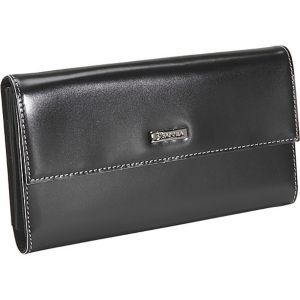 Black Box Calf Leather Checkbook Wallet