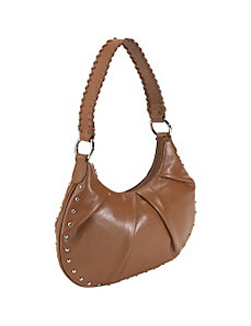 Leather Studded Hobo by Bisadora