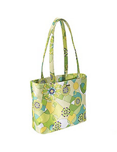 Lime Green Geometric Print Baby Bag Tote by Bisadora