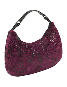 Cranberry Furrette Large Hobo by Bisadora