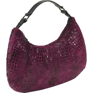 Cranberry Furrette Large Hobo