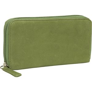 Cashmere Zipper Clutch Wallet