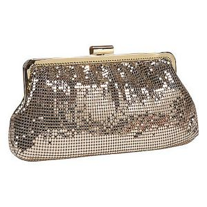 Metal Mesh Shirred Frame Clutch