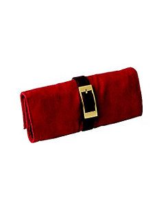 Leather and Suede Jewel Roll by Budd Leather