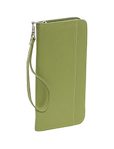 Zippered Passport/Ticket Holder by Piel