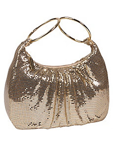 Mesh Double Hoop Hobo by Whiting and Davis