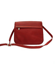 Flap-Over Zippered Bag by Piel