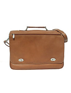 Business Flap Briefcase by Piel