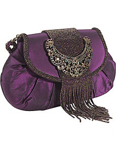 Jewel Buckle Silk Frame Bag by Inge Christopher