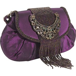 Jewel Buckle Silk Frame Bag