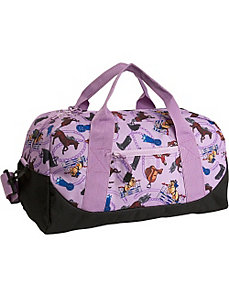 Purple English Riding Duffel by Wildkin