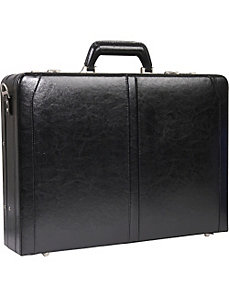 Leather Expandable Laptop Attache by SOLO