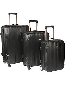 Rome 3-Piece Hardshell Spinner/Rolling Luggage Set by Traveler's Choice
