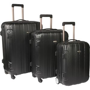 Rome 3-Piece Hardshell Spinner/Rolling Luggage Set