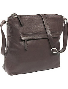 Cashmere 3 Compartment Swirl Stitch Bag by Osgoode Marley
