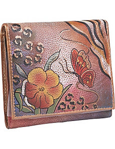 Three Fold Wallet - Premium Floral Safari by Anuschka