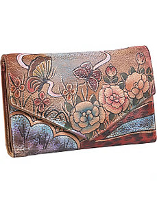 V-Flap Checkbook Wallet - Premium Rose Antique by Anuschka