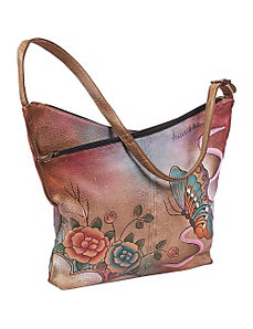 V-Top Hobo - Premium Rose Antique by Anuschka