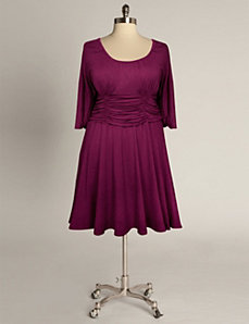 Sofia Dress in Ruby by Eliza Parker