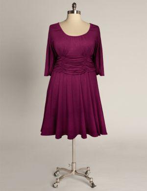 Sofia Dress in Ruby