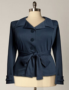 Plush Jacket In Navy by Eliza Parker