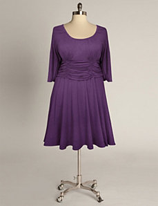 Sofia Dress in Violet by Eliza Parker