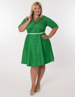 Vineyard Dress in Kelly Green