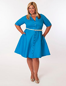 Vineyard Dress in Turquoise by Eliza Parker
