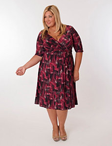 Florence Dress in Red Print by Eliza Parker