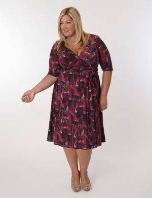 Florence Dress in Red Print