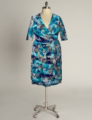 Rio Dress in Teal Print