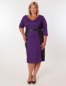 Madrid Dress Purple and Black by Eliza Parker