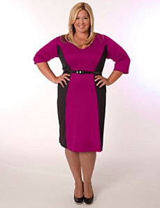 Madrid Dress Magenta and Black by Eliza Parker