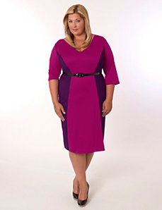 Madrid Dress Magenta and Purple by Eliza Parker