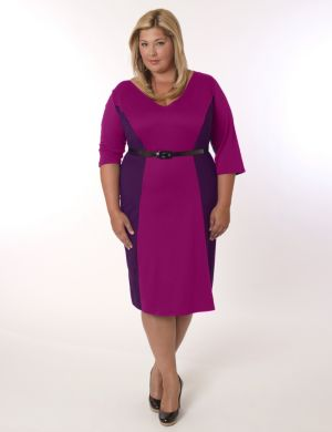 Madrid Dress Magenta and Purple