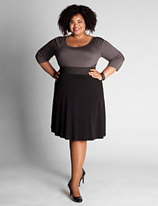 High Waisted A-line Skirt by Eliza Parker