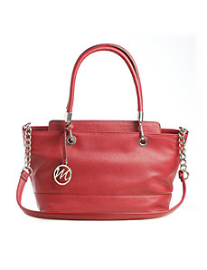 Kristi Satchel w/ Chain Shoulder Strap by Emilie M