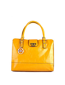 Leslie Briefcase Tote w/ Detachable Shoulder Strap by Emilie M