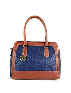 Olivia Ostrich Triple Compartment by Emilie M