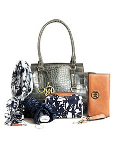Kimberley Croco Small Satchel + 5pc Essentials by Emilie M