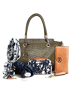 Kristi Ostrich Satchel 2/ Chain Shoulder Strap + 5 by Emilie M