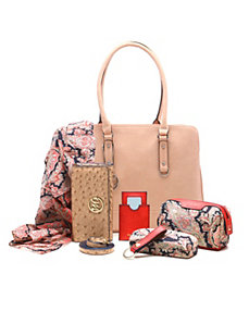 Kimberley Compartment Shoulder Bag + 6pc Essential by Emilie M