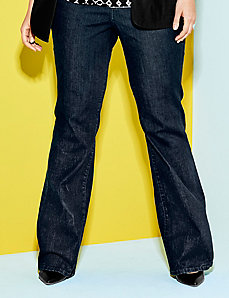 Flare leg jean with Tighter Tummy Technology