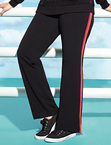 Plus size racing stripe active pant
