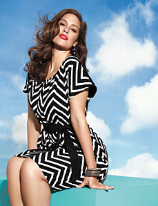 Plus Size Chevron Stripe Dress by Lane Bryant