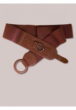 Round Buckle Belt in Caramel
