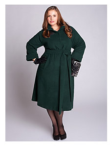Taylor Coat in Forest Green by IGIGI by Yuliya Raquel