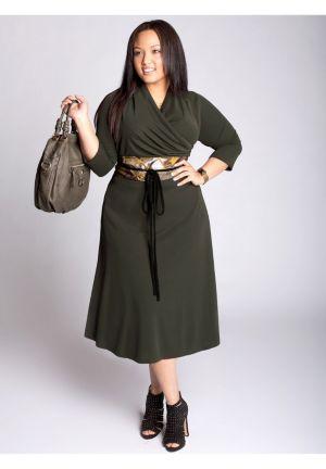 Odette Dress in Olive