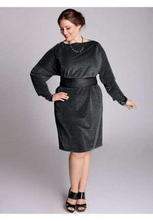 Kaori Infinity Dress in Black Lurex